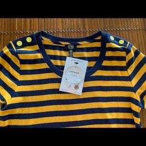 Jones NY XL Striped Tee w/ Unwritten Bracelet ⚓️